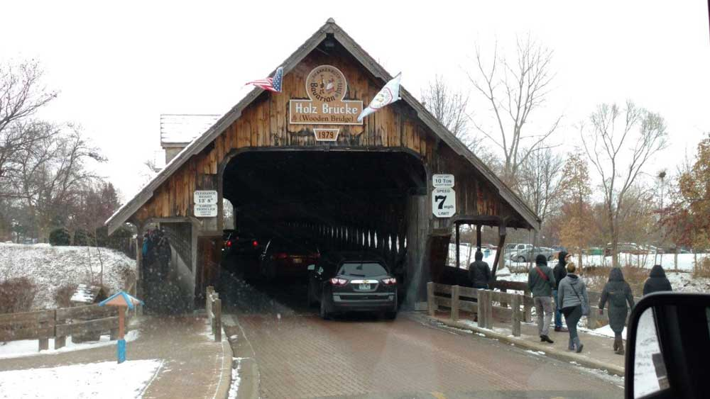 Frankenmuth Michigan - Wooden Bridge