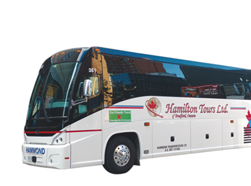 This is a photo of the Hamilton Tours tour bus.